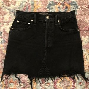 Agolde Skirts - AGOLDE Quinn High Rise Jean Skirt